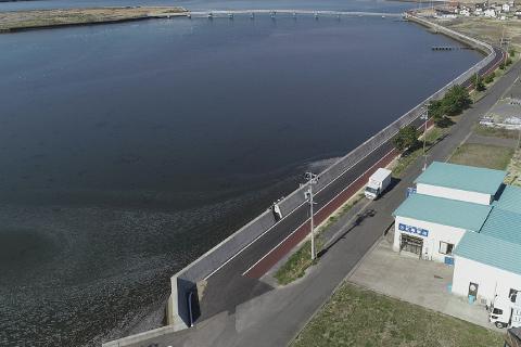 宮城県 海岸堤防管理道路復旧工事